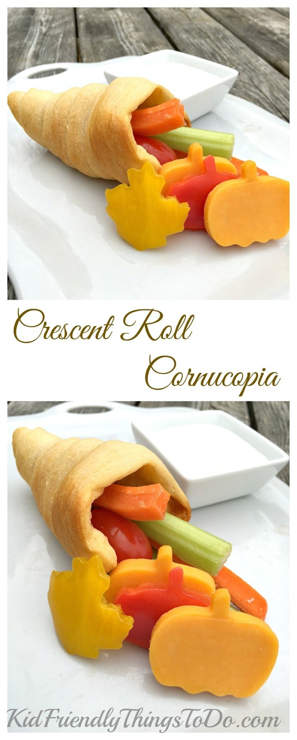 Crescent Roll Cornucopia from Kid Friendly Things To Do