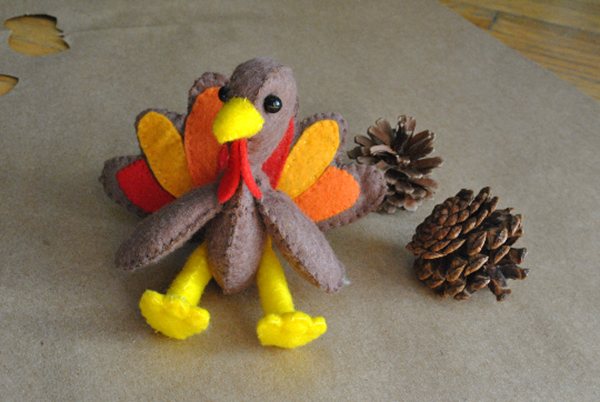 Felt Turkey Doll from Delilahiris