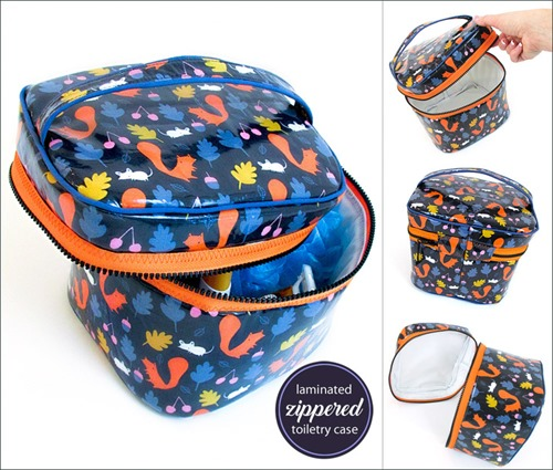 Laminated Make Up or Toiletries Case from Sew4Home