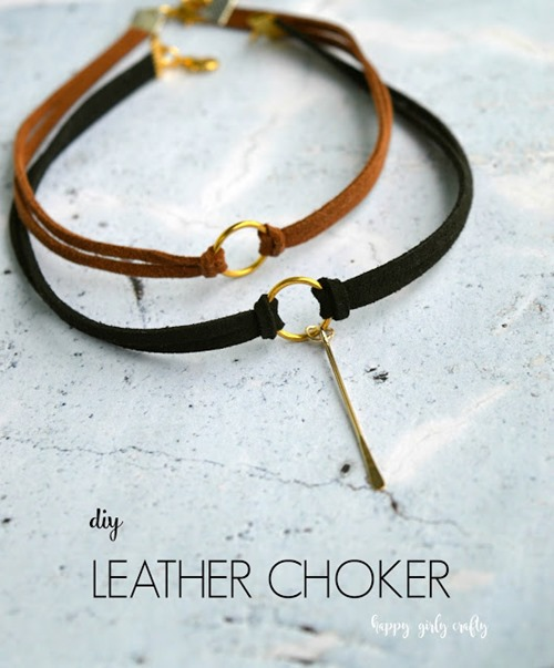 Leather Choker from Happy Girly Crafty