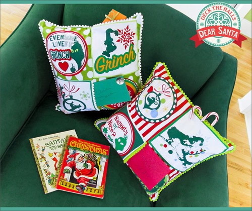 Letter for Santa Pocket Pillow from Sew4Home