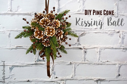 Pine Cone Kissing Ball from Consumer Crafts