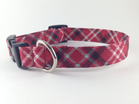 Plaid Dog Collar from Chasintail