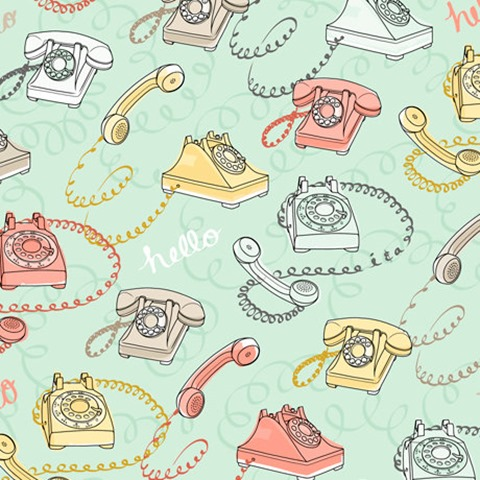 Rotary Phone Fabric from FeatheredNest97030