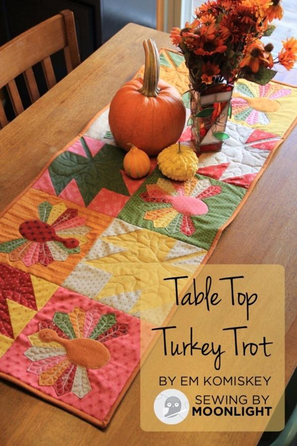 莫达面包店的桌上土耳其火鸡被子