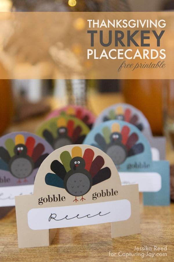 Thanksgiving Turkey Placecards from Capturing Joy