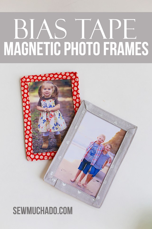Bias Tape Magnetic Photo Frames from Sew Much Ado