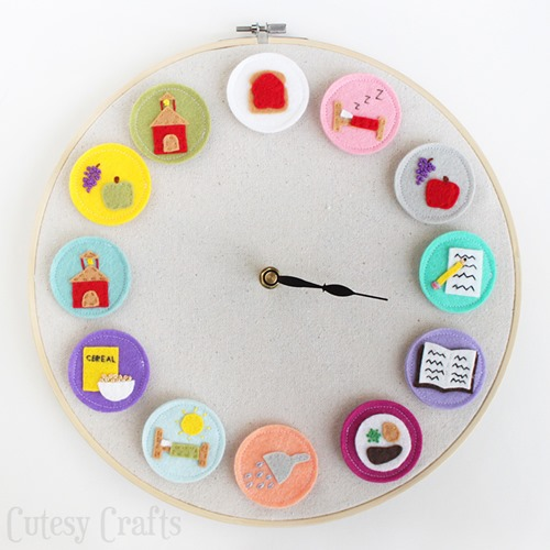 DIY Clock for Kids from Cutesy Crafts