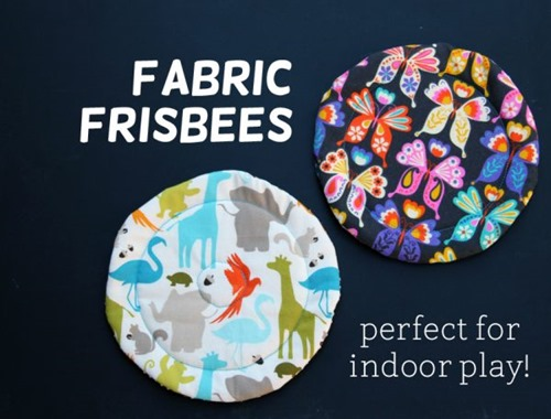 Fabric Frisbee from Make and Takes