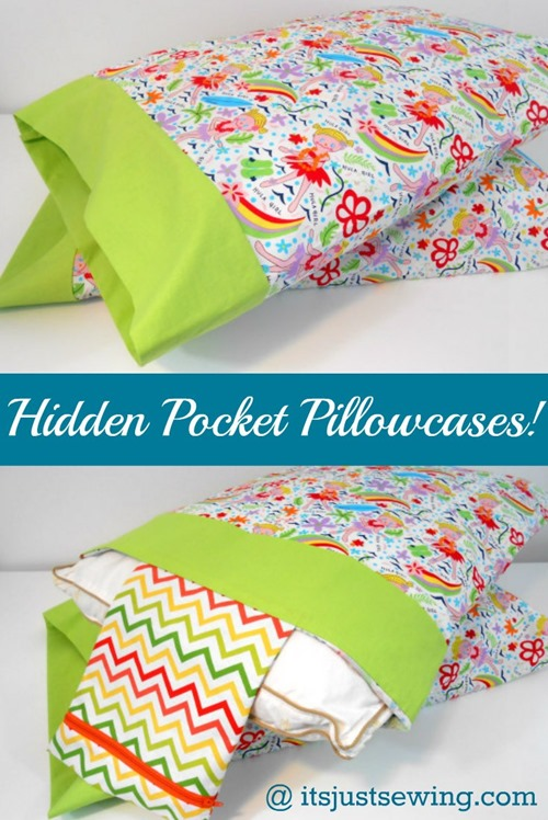 Hidden Pocket Pillowcase from It's Just Sewing
