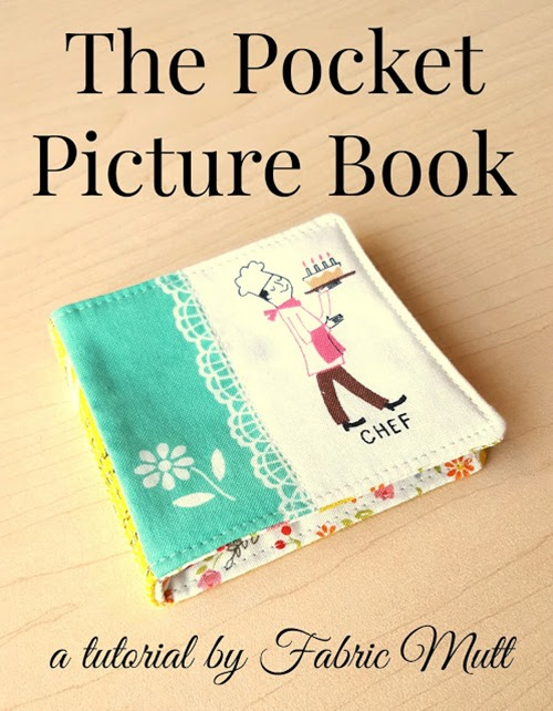 Pocket Picture Book from Fabric Mutt