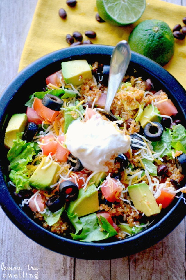 Quinoa Taco Bowl from Lemon Tree Dwelling