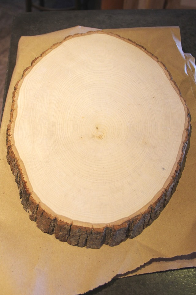 Oval wood cut