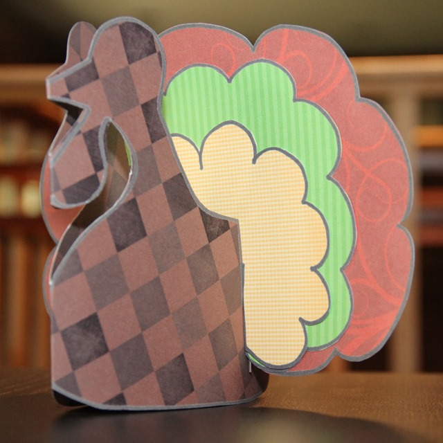 Paper Stand Up Turkey by Crafty Staci
