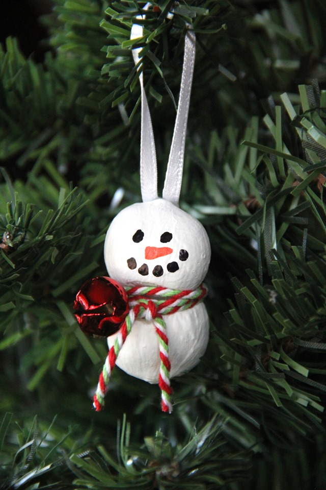 Hazelnut Snowman Ornament from Crafty Staci