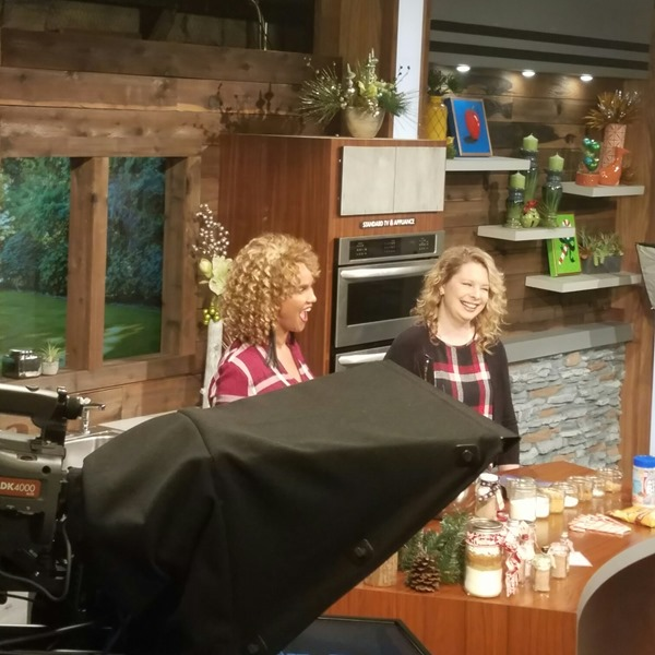 On the set of Afternoon Live
