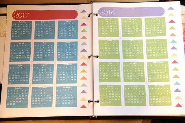 Yearly pages