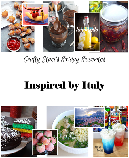 Friday Favorites Inspired by Italy from Crafty Staci