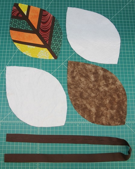 Pieces to make leaf hot pad