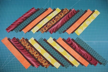 Strips sewn offset
