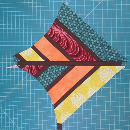 strips sewn together at center