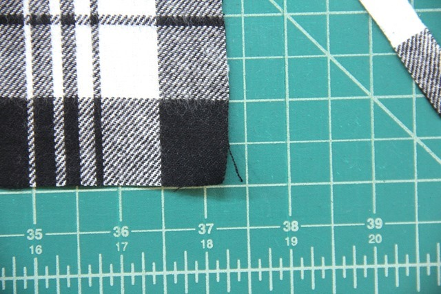 Pull a thread to verify selvedge is gone