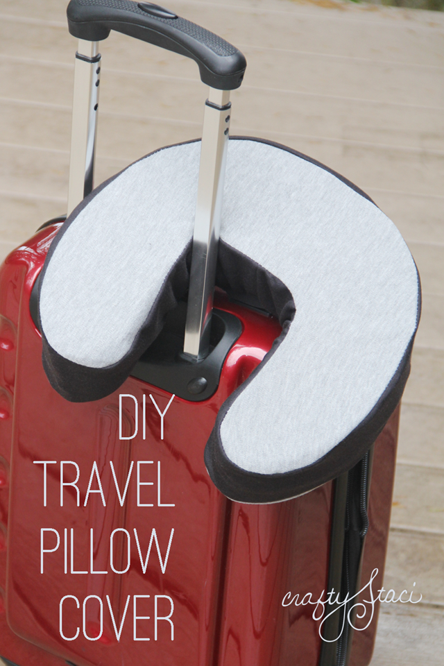 DIY Travel Pillow Cover by Crafty Staci