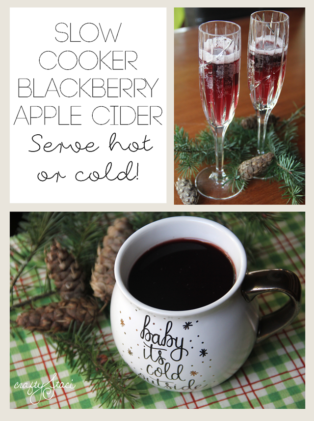 Slow Cooker Blackberry Apple Cider - serve hot or cold