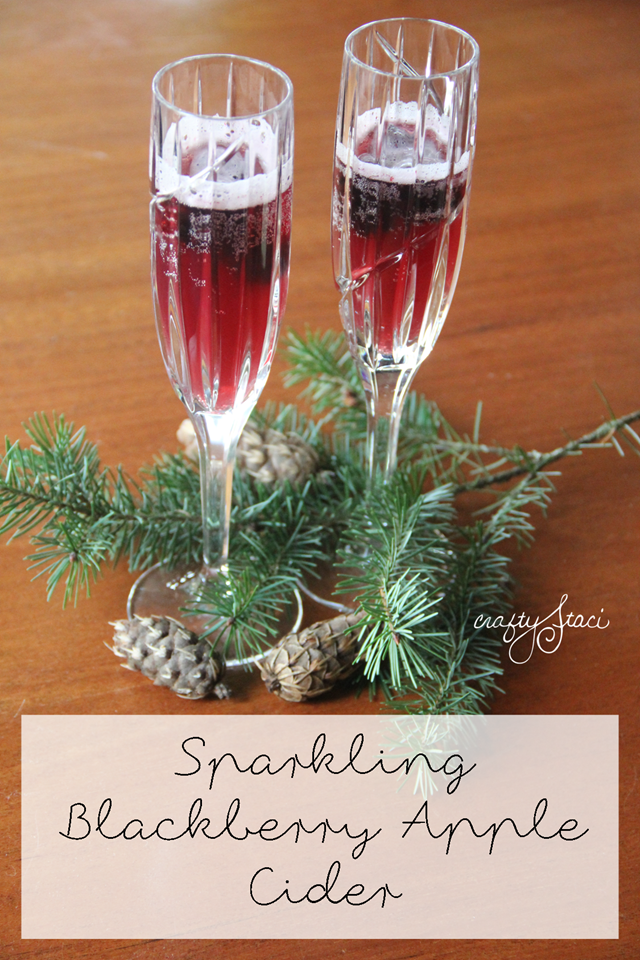 Sparkling Blackberry Apple Cider by Crafty Staci