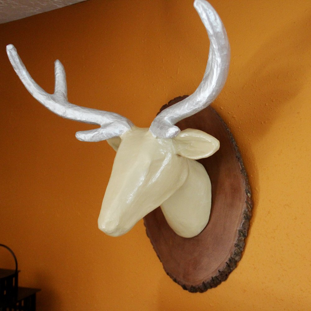 Deer Head with Homemade Wood Stain