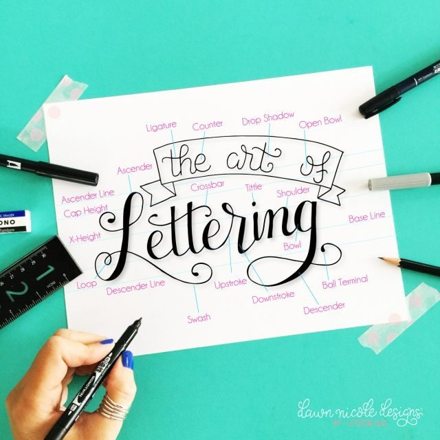 Hand Lettering 101 from By Dawn Nicole