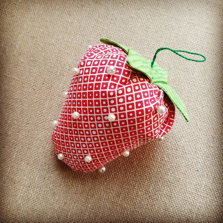 Strawberry Pincushion by Crafty Staci