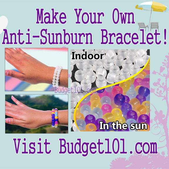 Make Your Own Anti Sunburn Bracelet from Budget 101.jpg