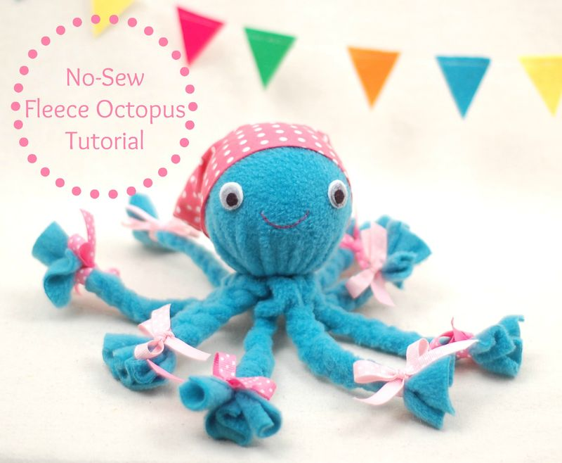 No Sew Fleece Octopus from While She Naps.jpg