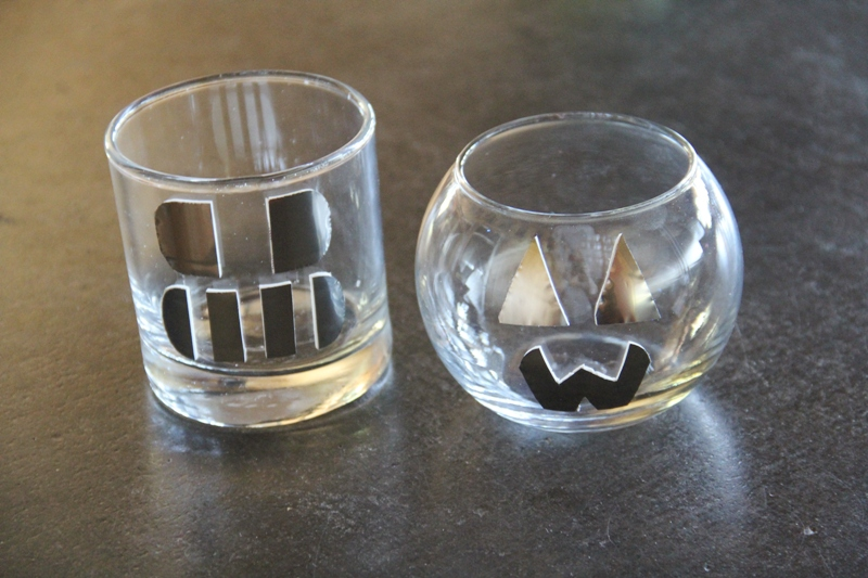 Skull and pumpkin candle holders.JPG