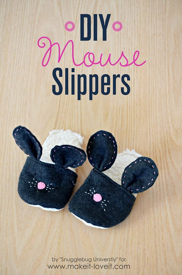 DIY Mouse Slippers from Make It and Love It
