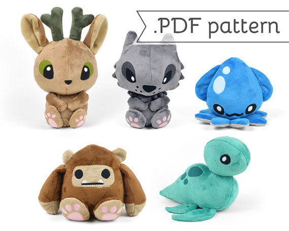 Cryptid Animal Sewing Pattern from CholyKnight on Etsy