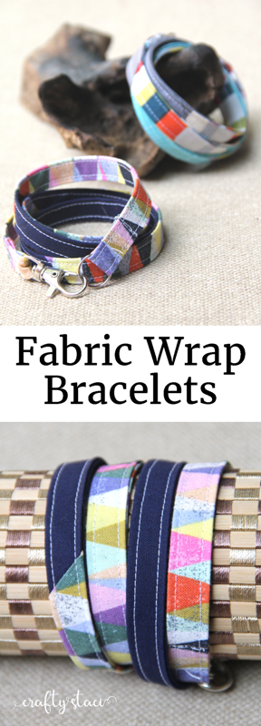 Fabric Wrap Bracelet Tutorial from Crafty Staci