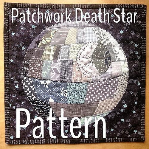 Patchwork Death Star Quilt Pattern from Quirky Granola Girl