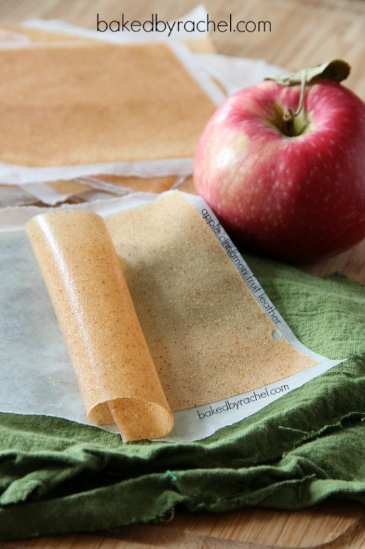 Apple Cinnamon Fruit Leather from Baked by Rachel