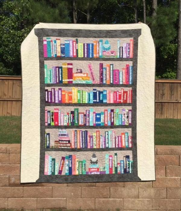 Selvage Bookshelf Quilt from JessicaQuilter on Craftsy
