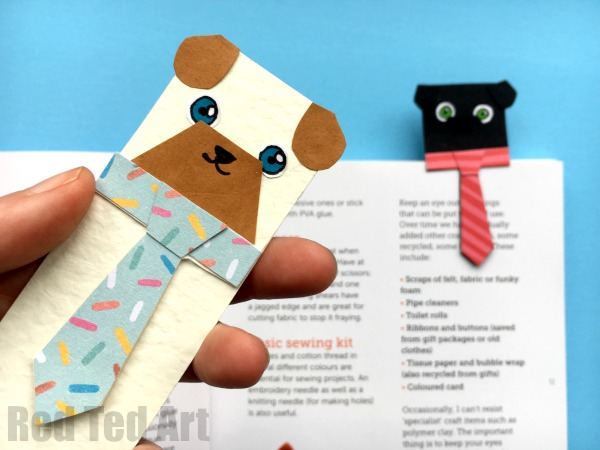 Printable Pug Bookmarks from Red Ted Art