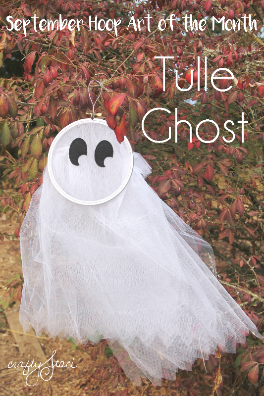 September Hoop Art of the Month - Tulle Ghost