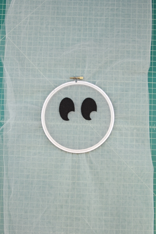 Ghost hoop adding eyes