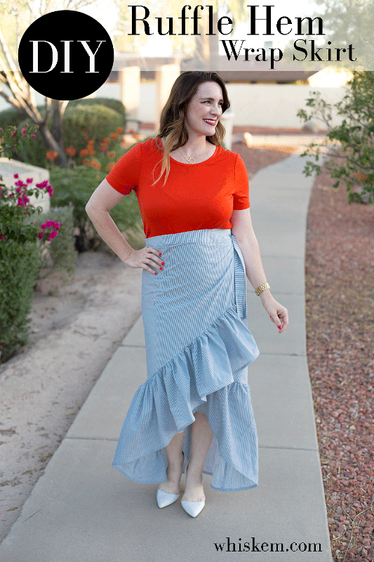 Ruffle Hem Wrap Skirt from Bonnie and Blithe