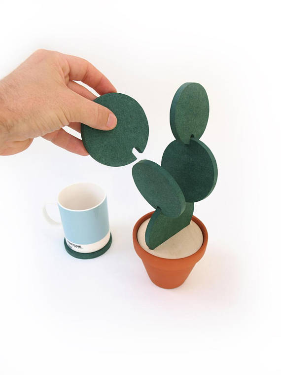 Cacti Coasters from CliveRoddy on Etsy