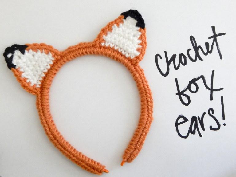 Crochet Fox Ear Headband from Make Create and Appreciate