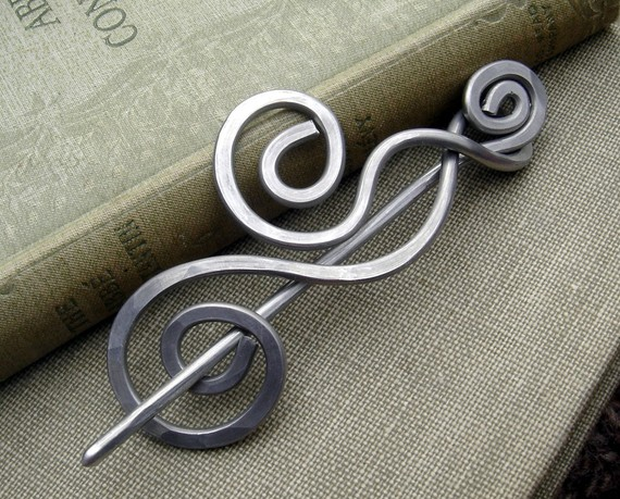 Aluminum Scarf Pin from nicholasandfelice on Etsy