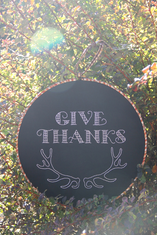 October Hoop Art - Give Thanks