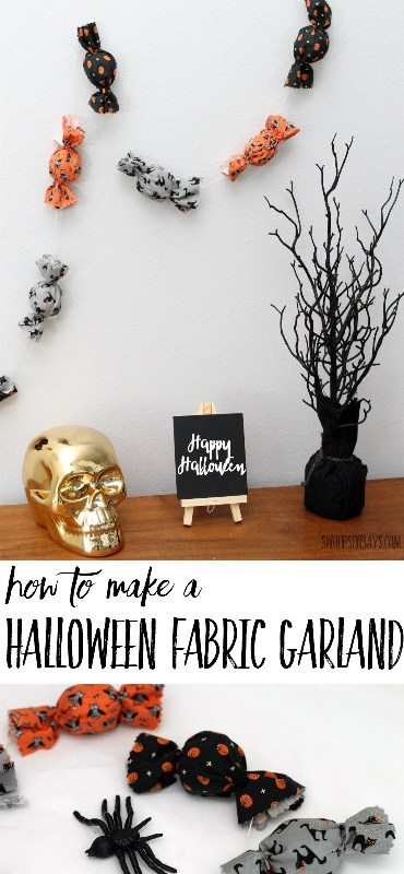 Fabric Scrap Halloween Garland from Swoodson Says